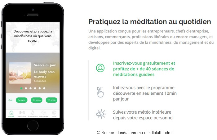 application méditation gratuite