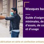 Coronavirus – tutoriel pour fabriquer un masque de protection en tissu