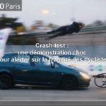 Crash test avec un cycliste